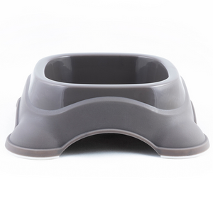M-Pets Plastic Single Bowl - Taupe Grey