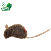 GiGwi Cat Toys - Mouse 'Refillable Catnip' with 3 catnip teabags