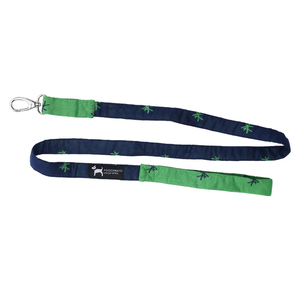 PoochMate Leash - Green & Navy Mandarin