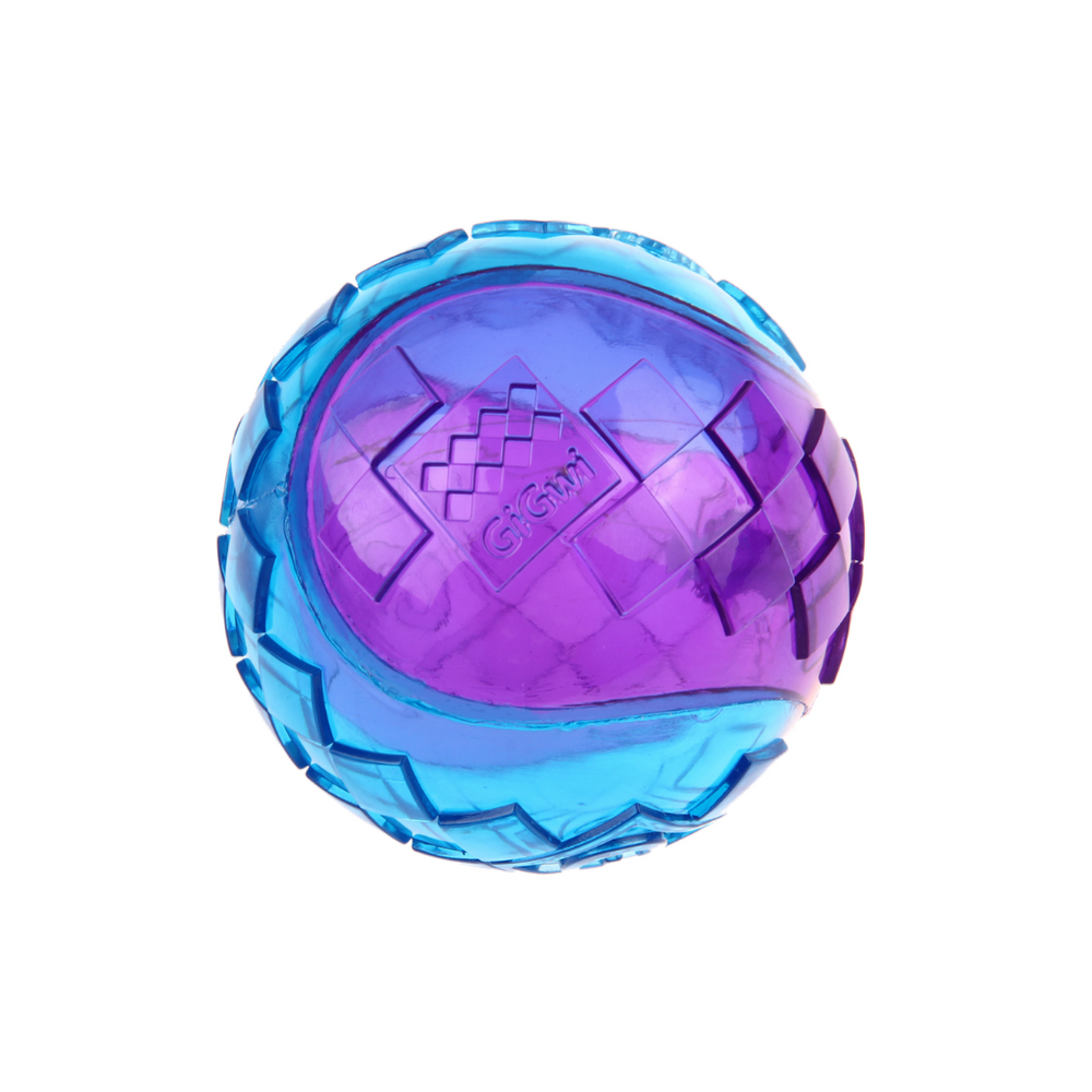 GiGwi Ball Squeaker - Purple/Blue