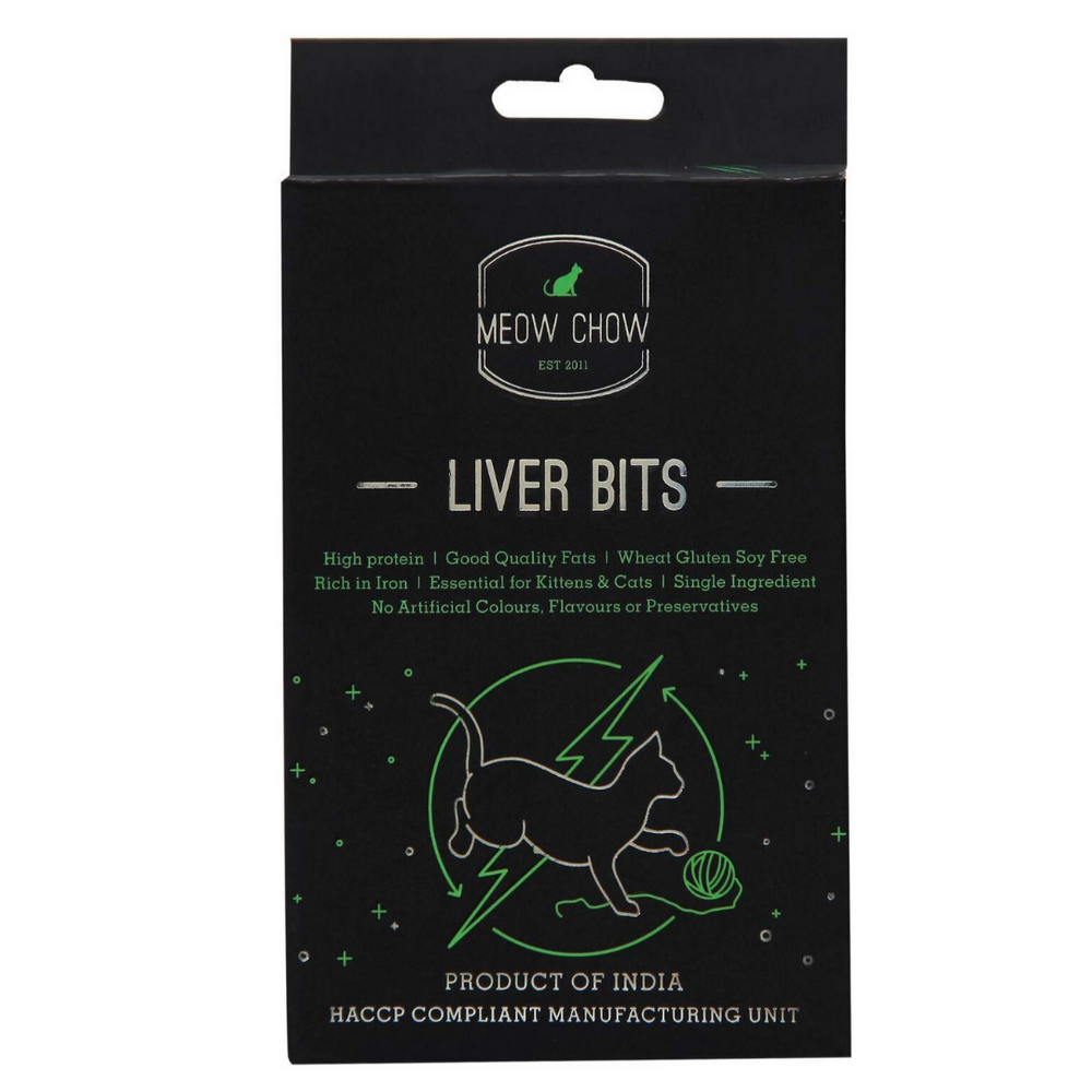 Doggie Dabbas - Meow Chow Liver Bits Cat Treat - 50 gms