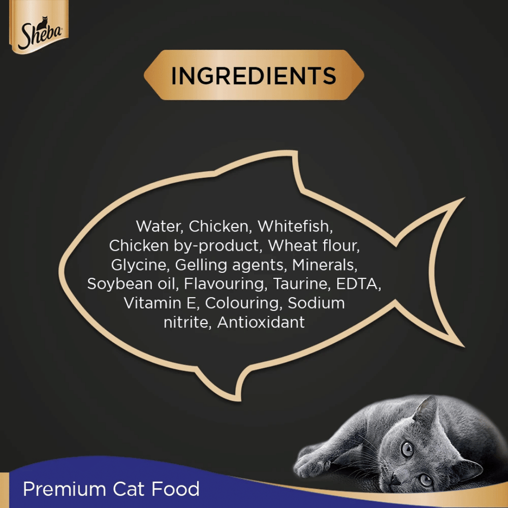 Sheba Premium Wet Cat Food - Chicken Loaf  (70g x 12 Pouches)