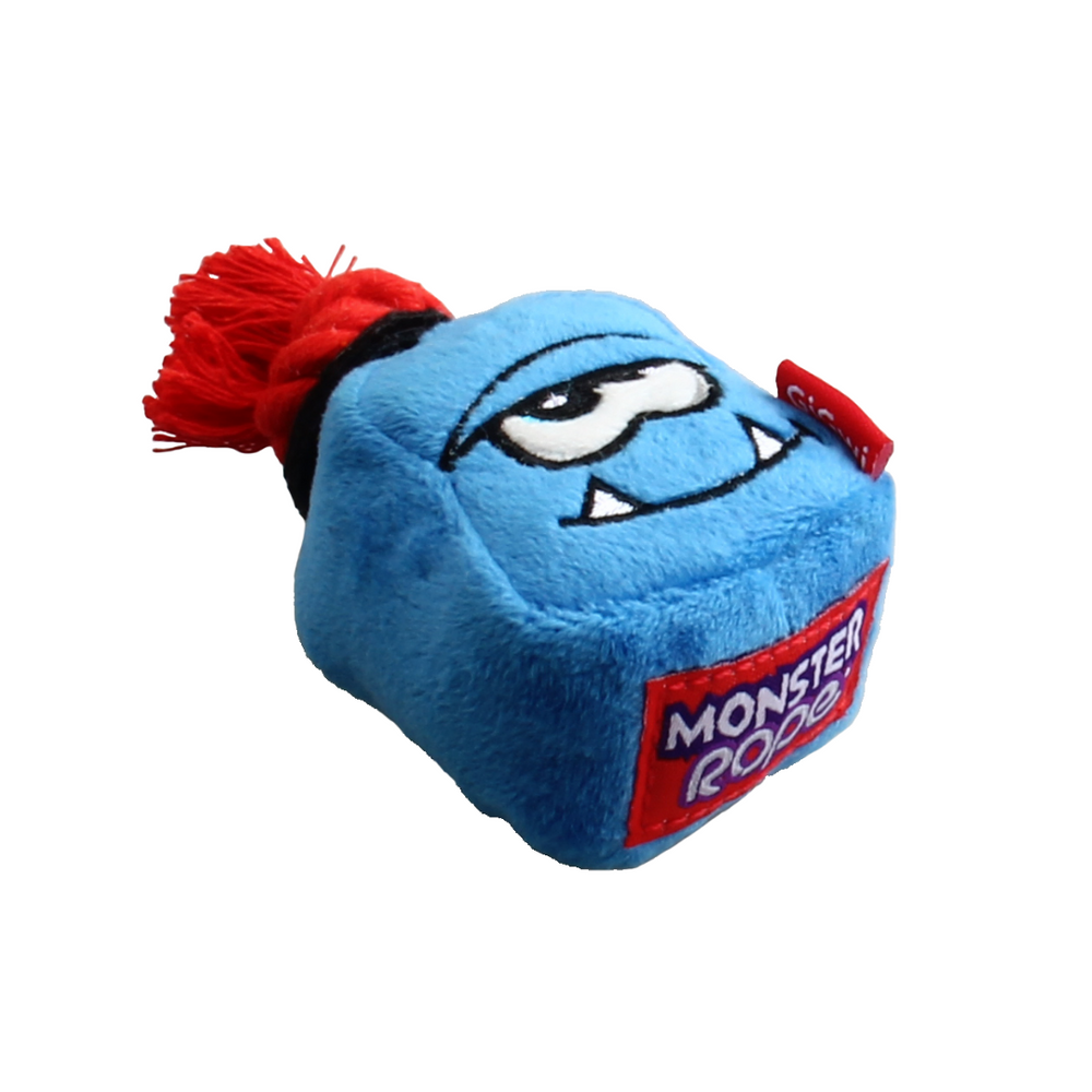 Monster Rope with Squeaker - Plush/Rope - Blue