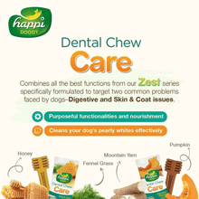 Happi Doggy Dental Chew Care - Pumpkin & Mountain Yam 25g