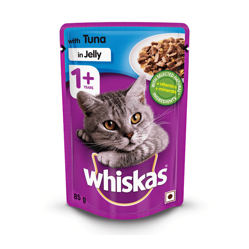 Whiskas Wet Cat Food - Tuna in Jelly - (85g x 12pouches)
