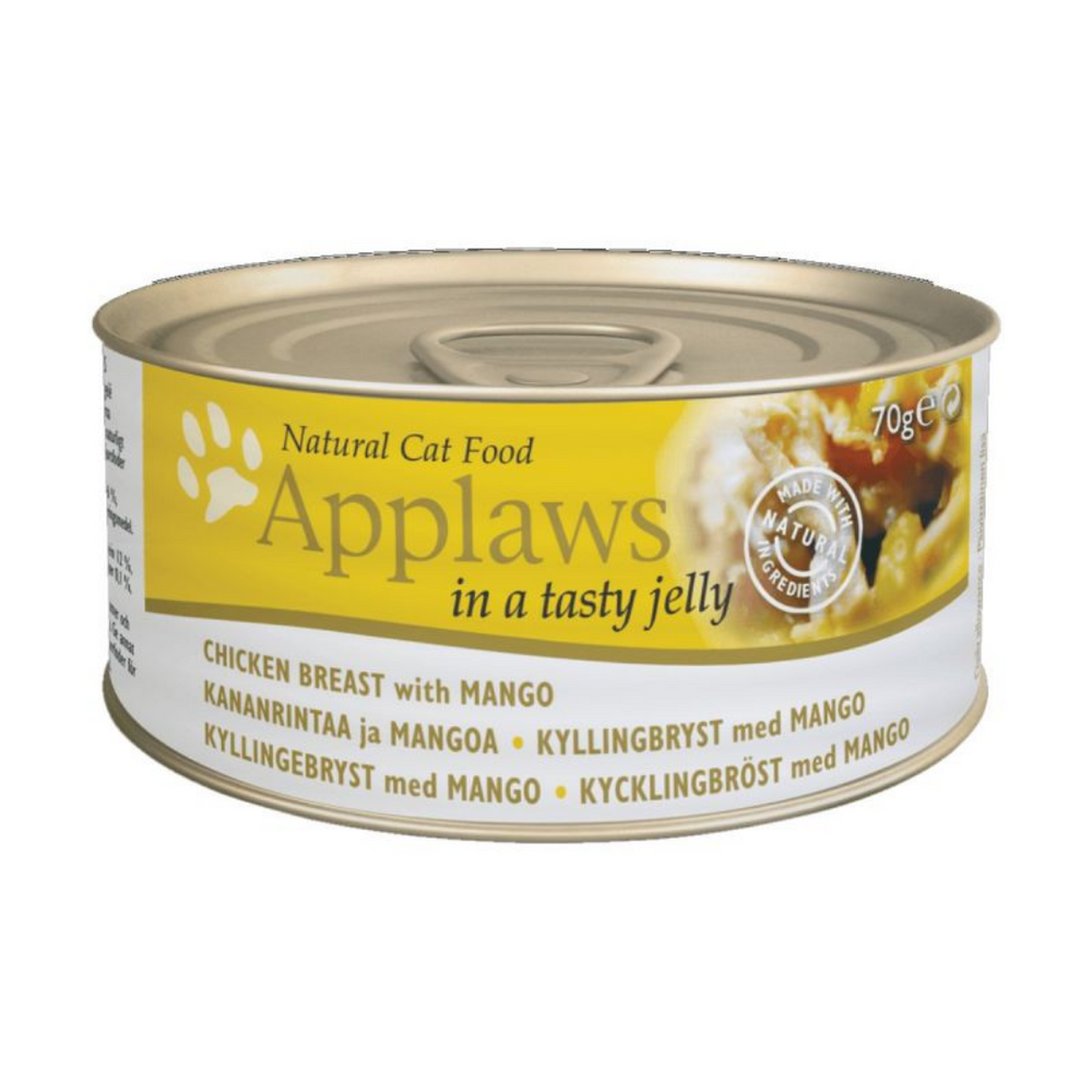 Applaws Adult Wet Cat Food - Chicken Breast with Mango (70g x 12 Cans)