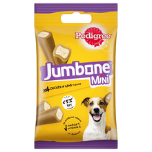 Pedigree Jumbone Mini Adult Dog Treat, Chicken & Lamb – 160g Pack (4 Treats)