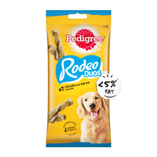 Pedigree Rodeo™ Duos Adult Dog Treat - Chicken & Bacon – 123g Pack (7 Treats)