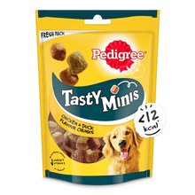 Pedigree Tasty Minis Cubes Adult Dog Treat - Chicken & Duck Flavour Chunks – 130g