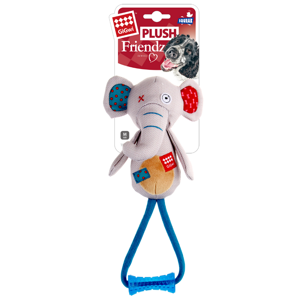 GiGwi Plush Friendz w/Johnny Stick - Elephant