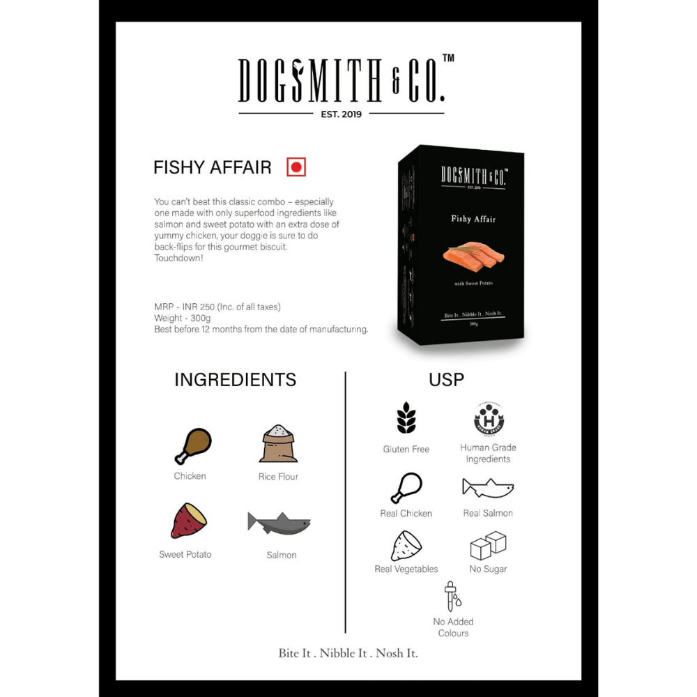 Dogsmith & Co. Dog Treats - Fishy Affair (Gluten Free) - 300g