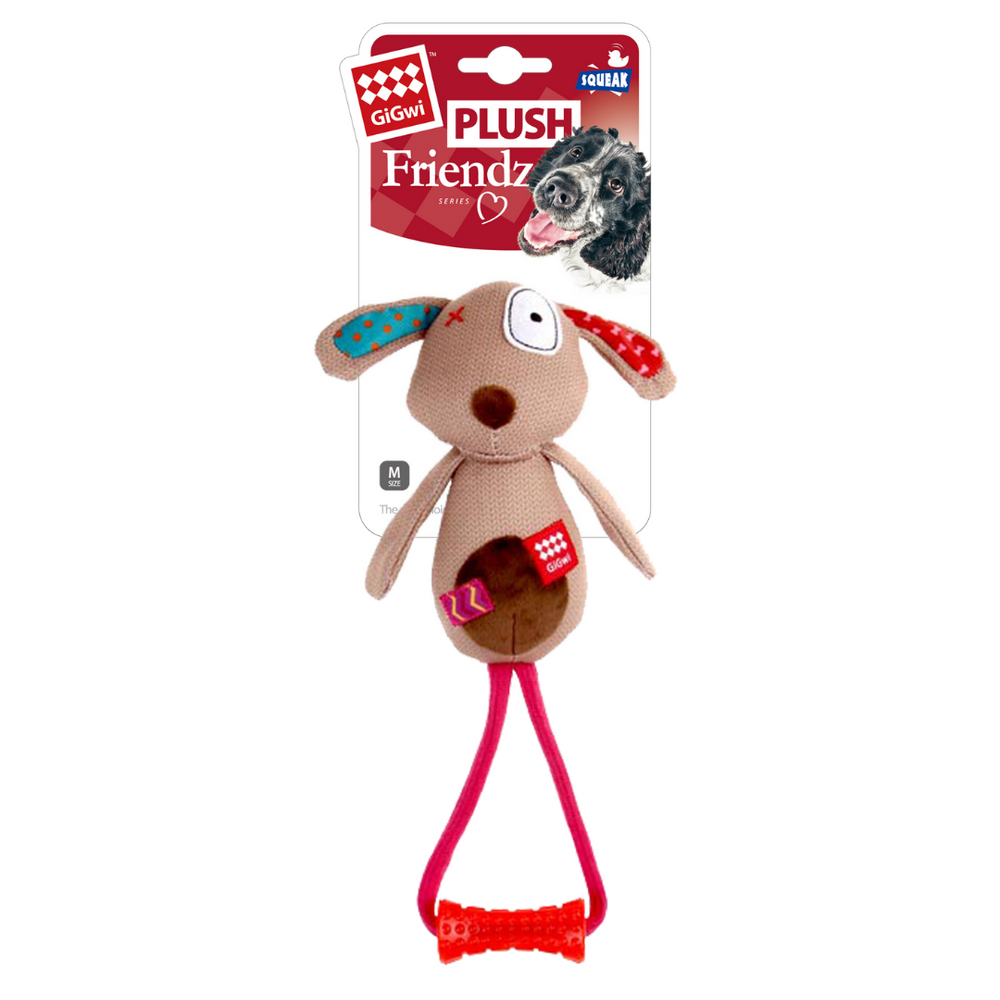 GiGwi Plush Friendz w/Johnny Stick - Dog