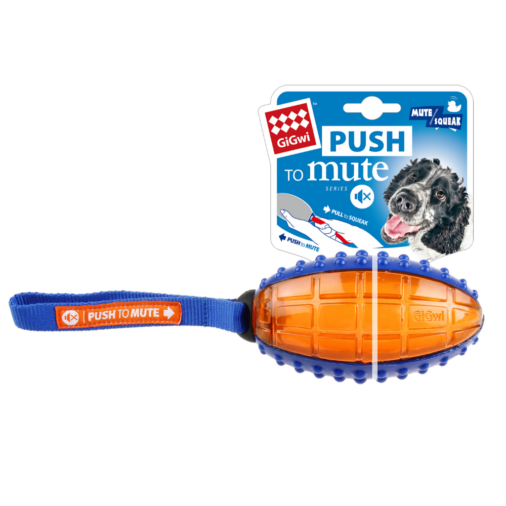 GiGwi Push-To-Mute Series - Rugby Ball