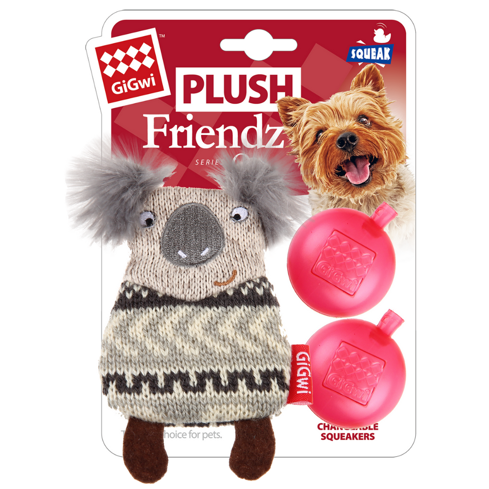 GiGwi Plush Friendz with refillable speaker - Koala