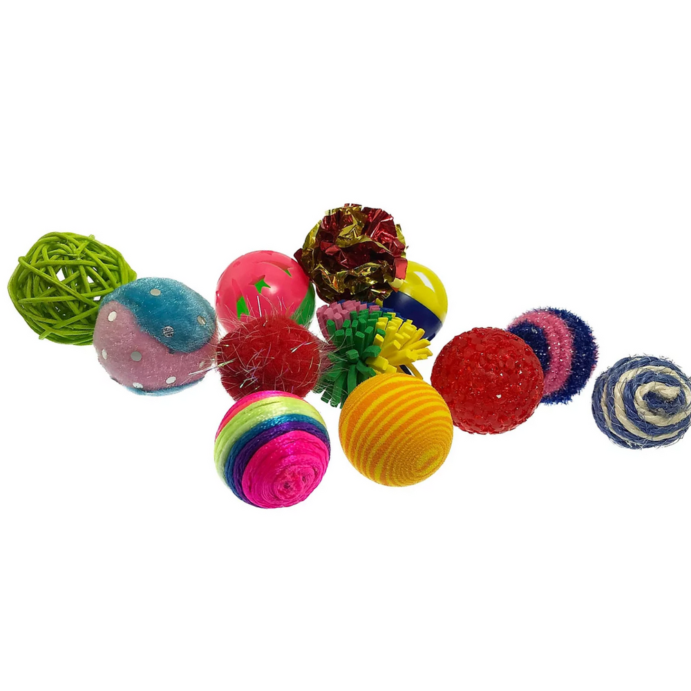 Petsport Cat Toys - Kitty Fun Balls Assorted