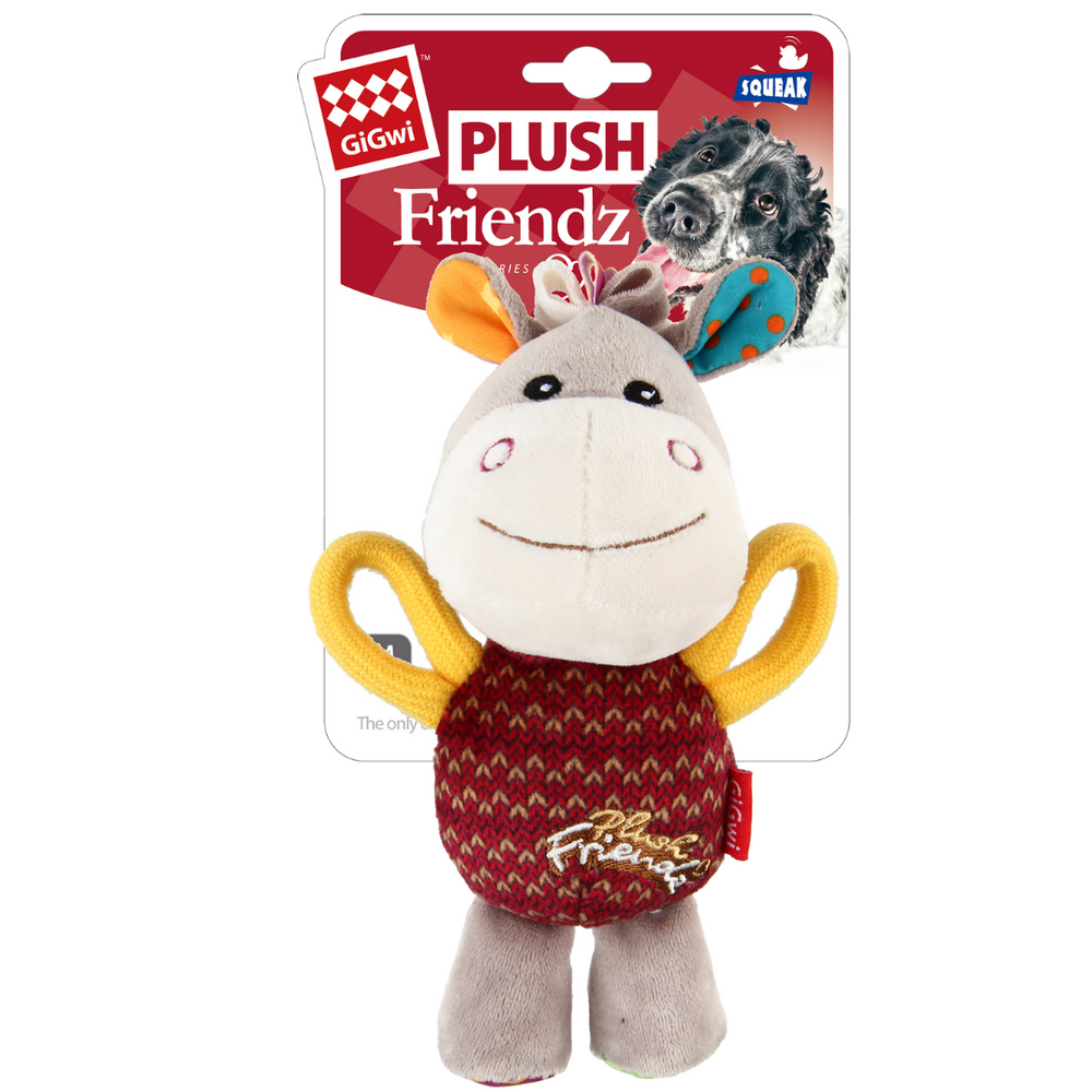 GiGwi Plush Friendz with speaker - Donkey