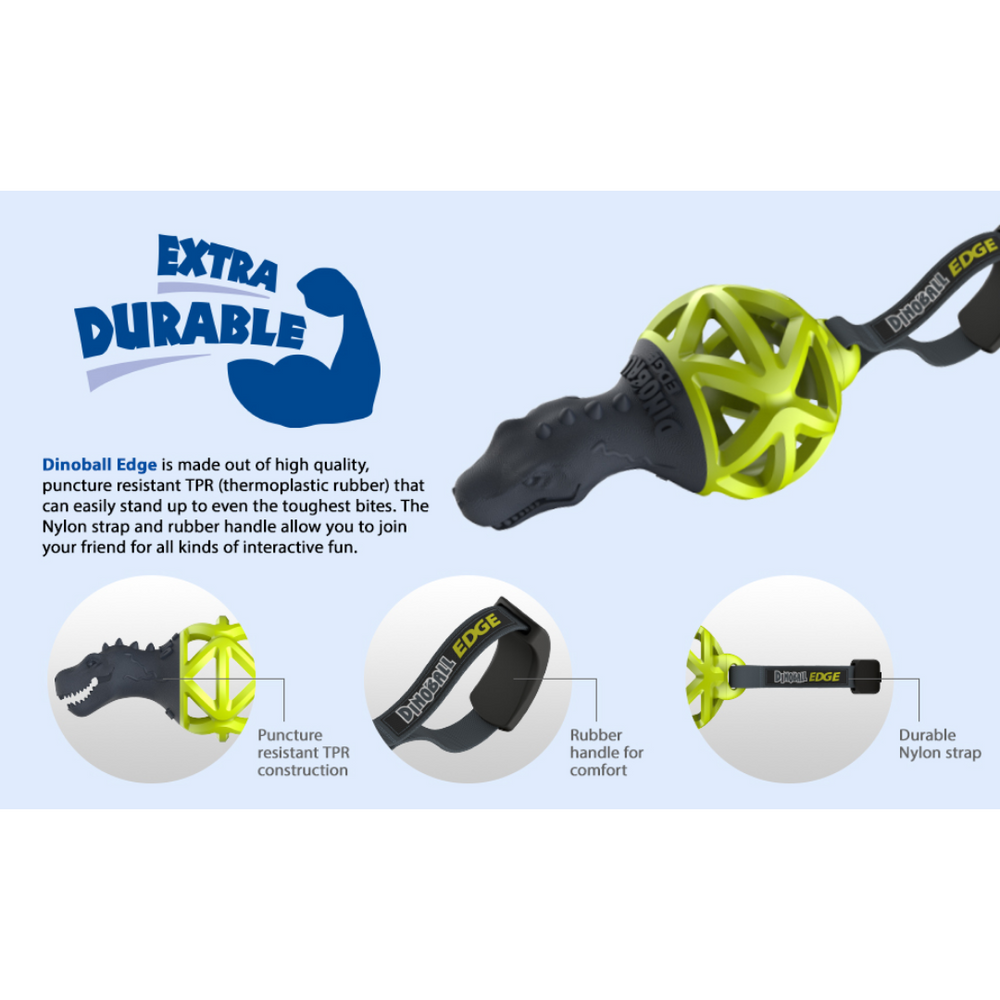 GiGwi Dinoball Edge with Strap