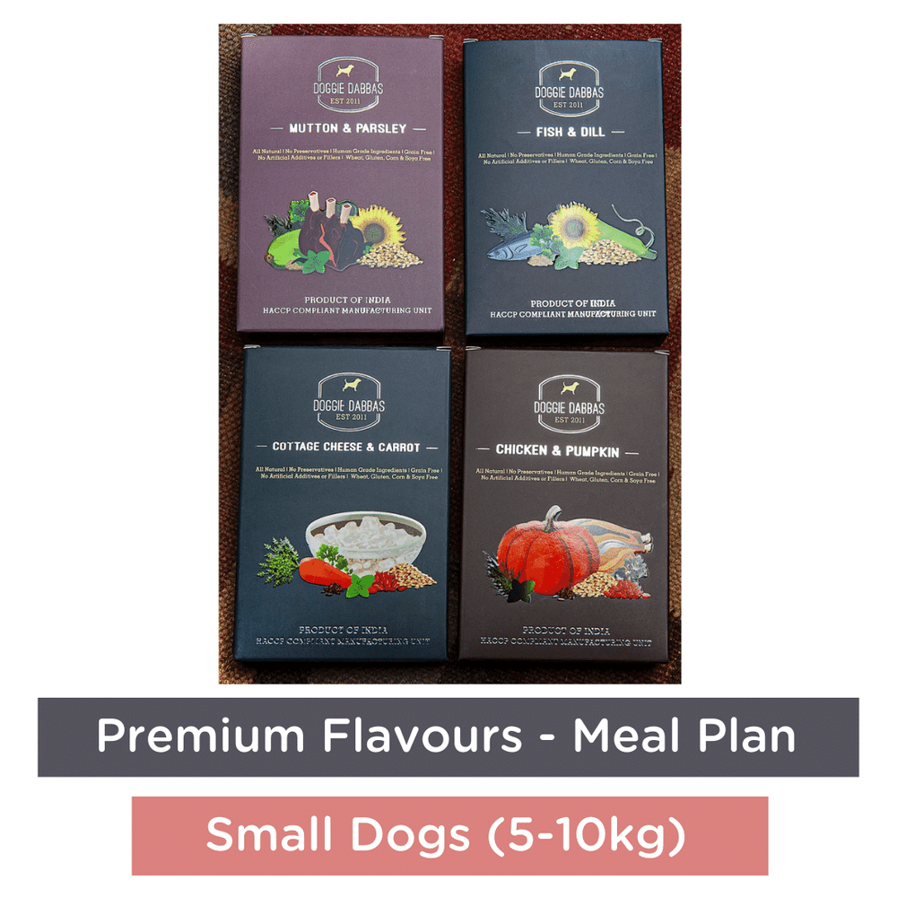 Doggie Dabbas Fresh Meals - Meal Plan for Small Dogs (5-10kg) - Premium Flavours