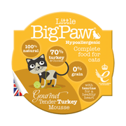 Little BigPaw Cat Wet Food - Gourmet Turkey Mousse - Pack of 8 (8 x 85 gms)