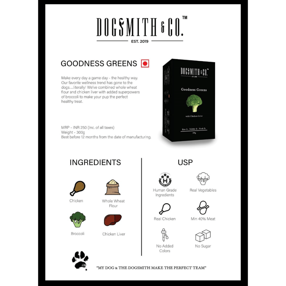 Dogsmith & Co. Dog Treats - Goodness Greens  - 300g