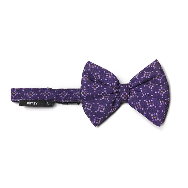 Petsy Bandhani Cat Bow With Strap - Purple
