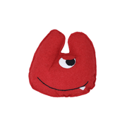 Mutt of Course Cat-astrophe Squeaky Dog Toy (Red)