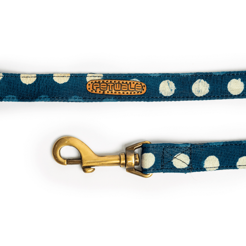 Petwale Leash - Blue Polka