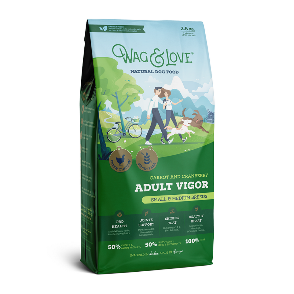 Wag & Love Adult Vigor (Small & Medium Breeds)