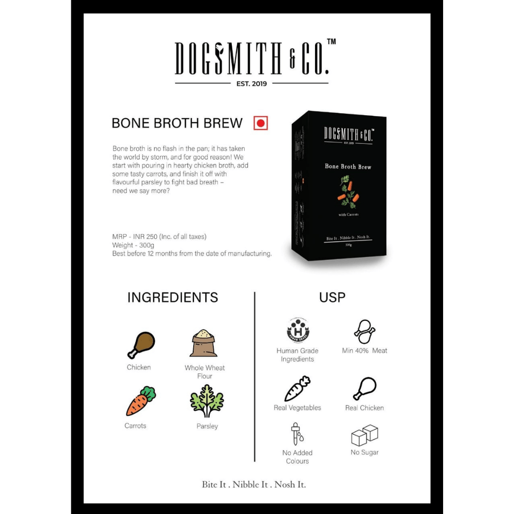 Dogsmith & Co. Dog Treats - Bone Both Brew - 300g