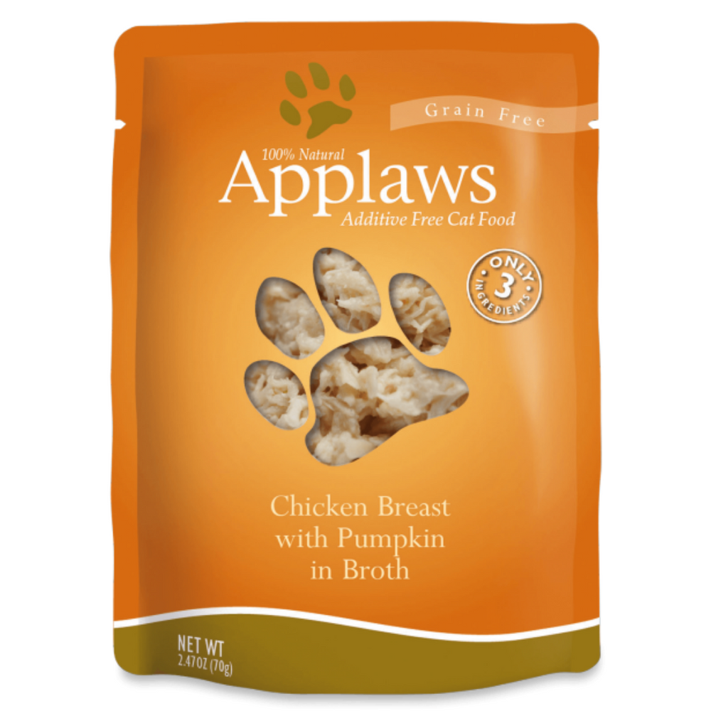 Applaws Adult Wet Cat Food - Chicken Breast With Pumpkin In Broth (70g x 12 Pouches)