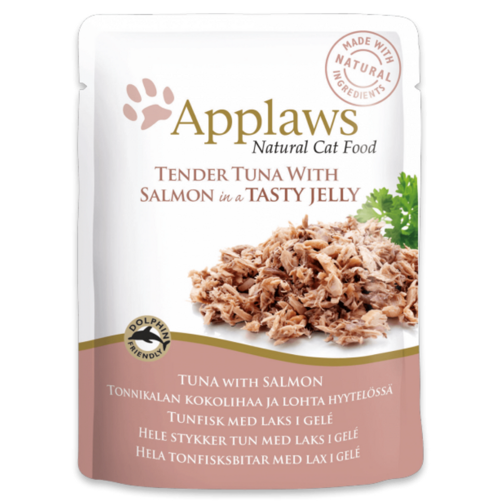 Applaws Cat Food - Tender Tuna With Salmon In Jelly - 70g (Pack of 16)