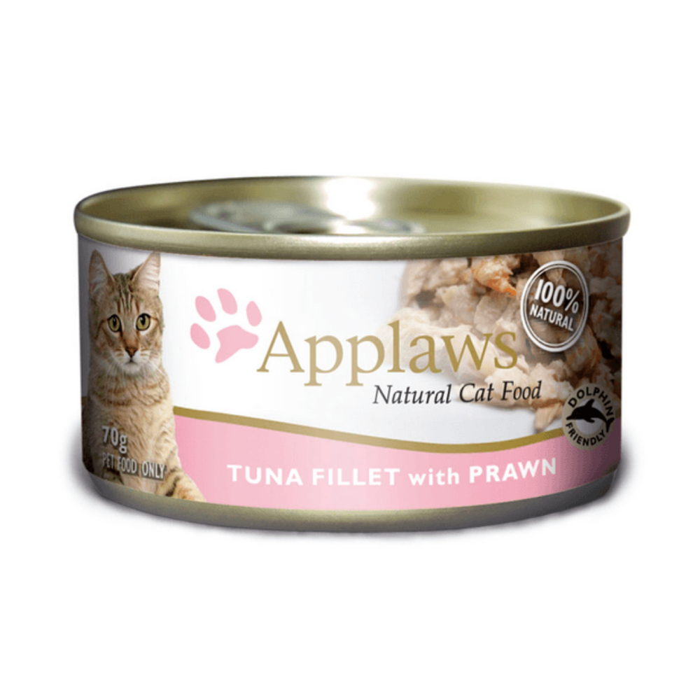 Applaws Adult Wet Cat Food - Tuna Fillet With Pacific Prawn (70g x 12 Cans)