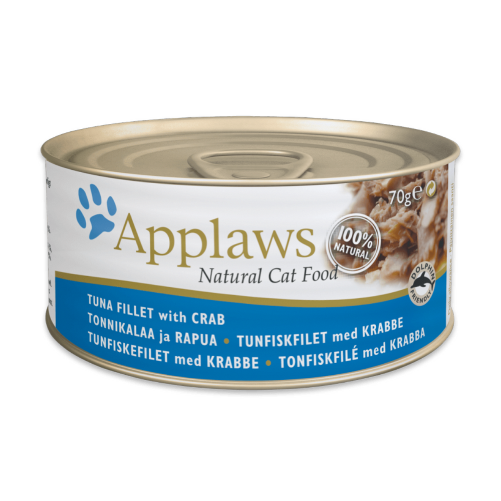 Applaws Cat Food - Tuna Fillet with Crab - 70g (Pack of 12)