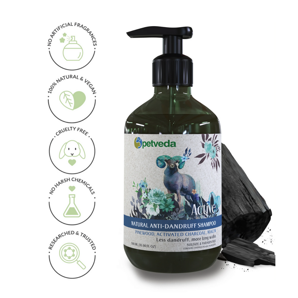 Petveda - Active - Natural Anti-Dandruff Shampoo - 500ml