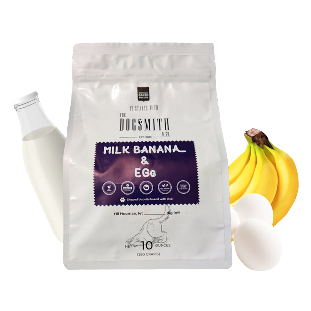 Dogsmith & Co. - Banana, Egg and Milk Dog Biscuits - 280 gms