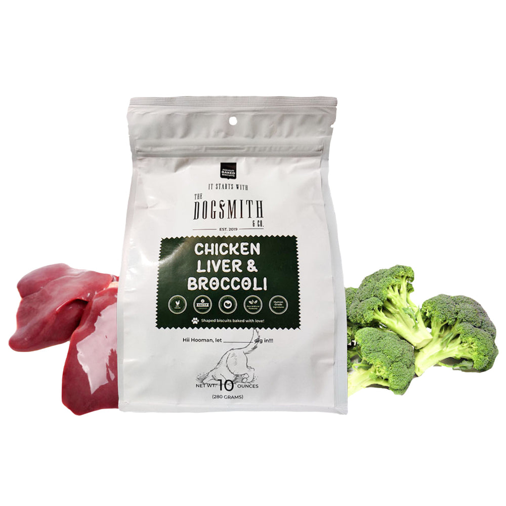 Dogsmith & Co. - Chicken Liver and Broccoli Dog Biscuits - 280 gms