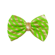 Furvilla Bow Tie - Green N Gold (Petsy Exclusive)