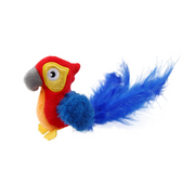 GiGwi Cat Toys - Red Parrot 'Melody Chaser' w/motion activated sound chip