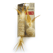 M-Pets Cat Toys - Natura Seagrass Roll & Ball