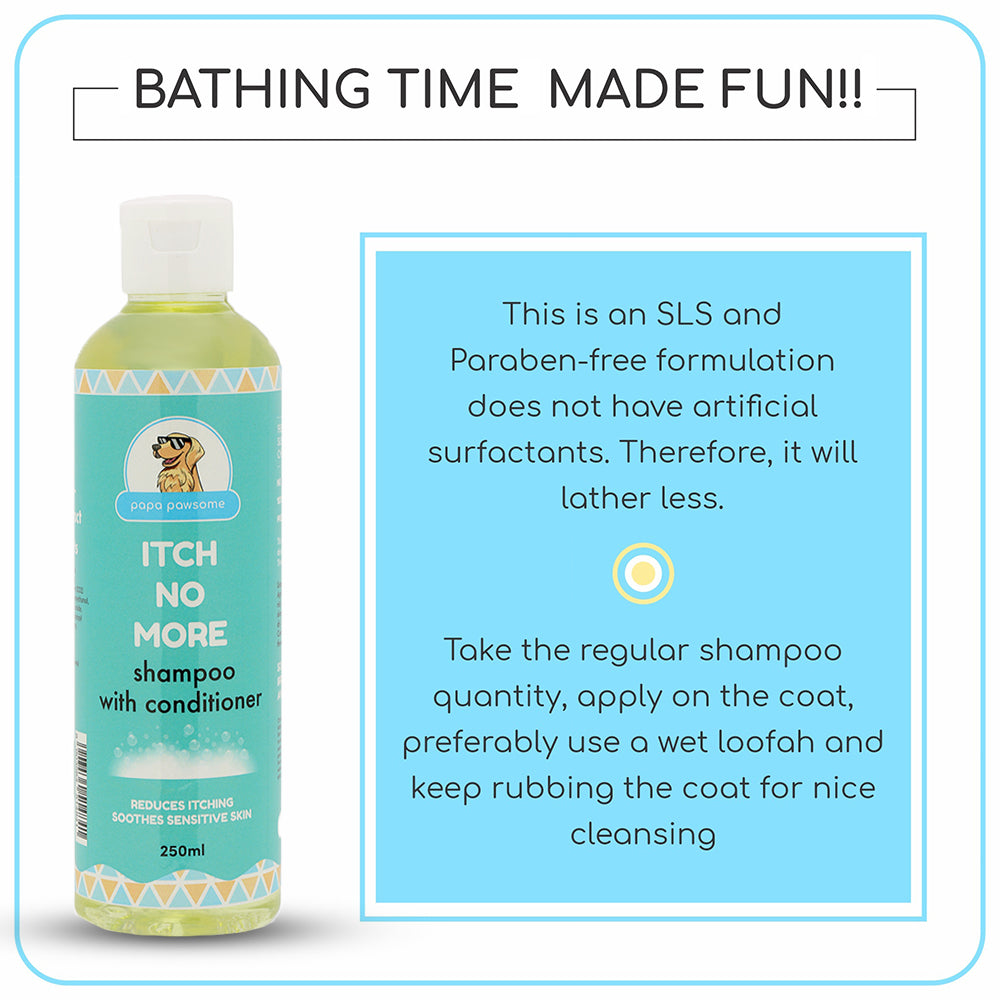 Papa Pawsome Itch No More Shampoo with Conditioner - 250ml