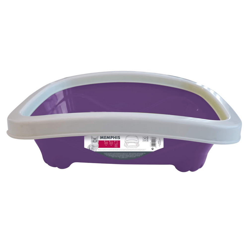 M-Pets - Cat Litter Tray With Rim - Purple