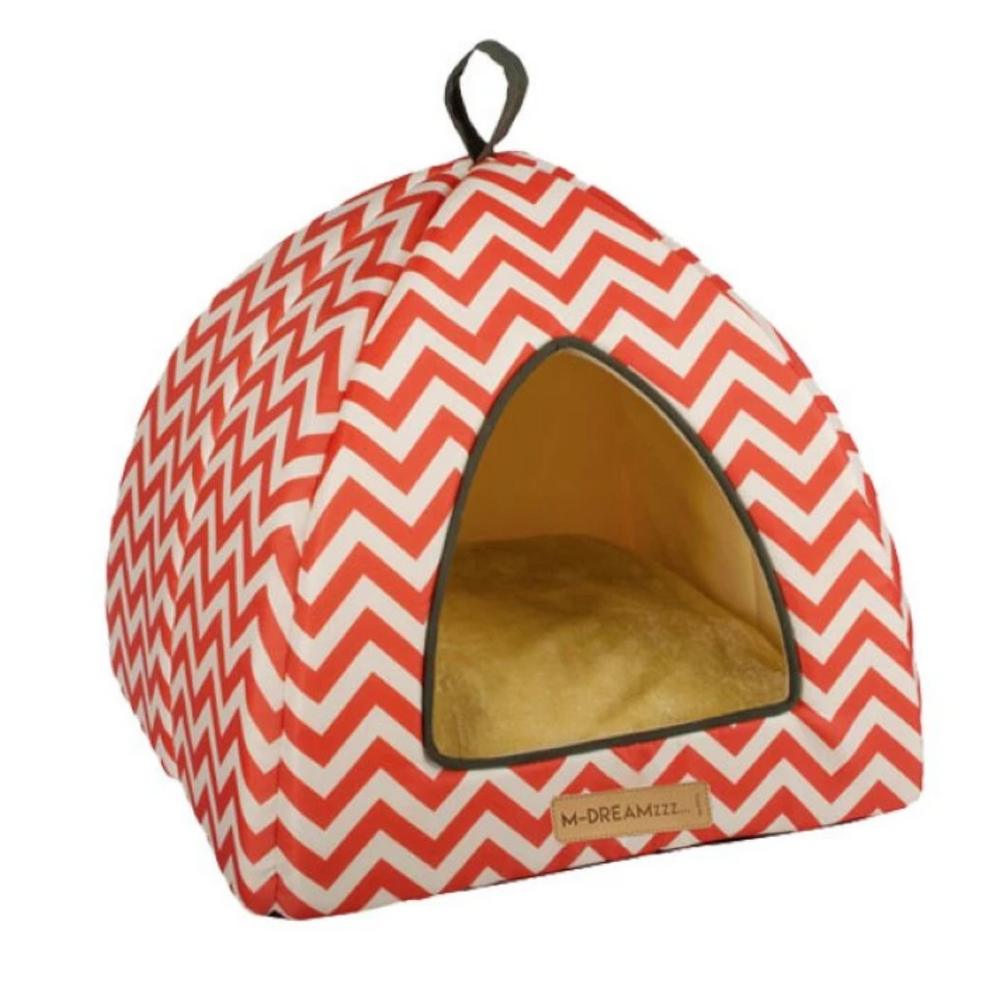 M-Pets Tipi - Tasmania Red & White