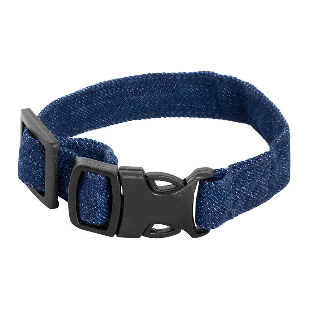 Mutt Of Course Cat Collar - Dark Denim
