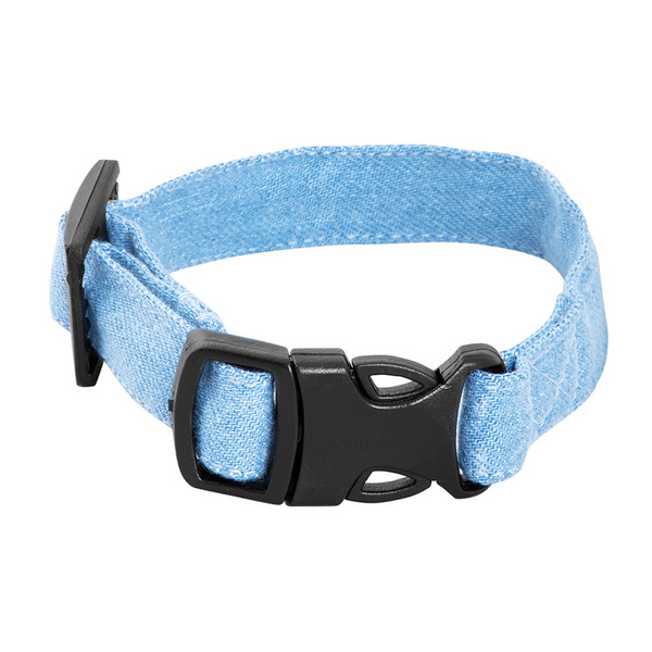Mutt Of Course Cat Collar - Light Denim