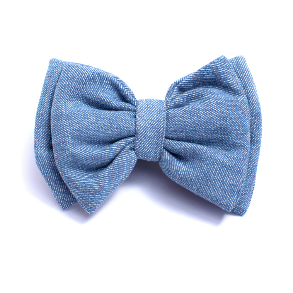 Mutt Of Course Cat Bow - Light Denim