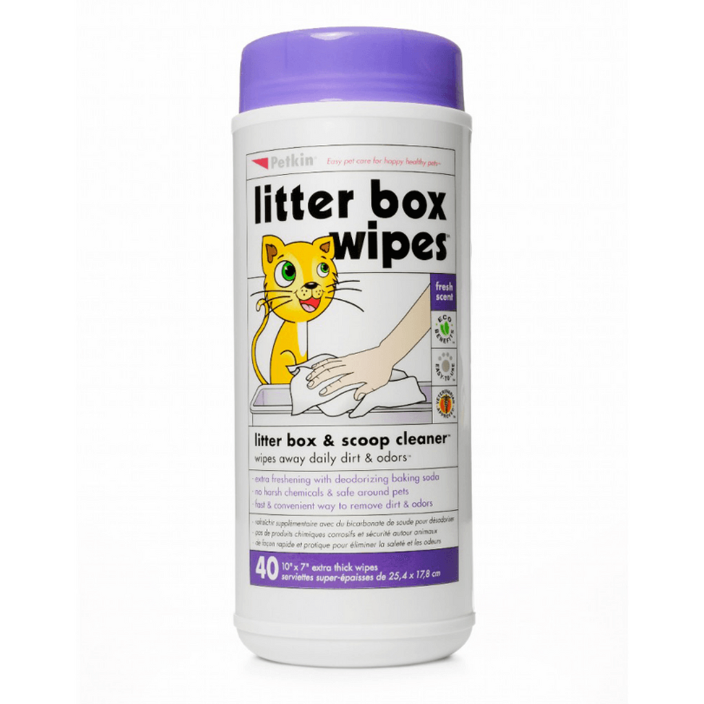 Petkin - Litter Box Wipes 40 Wipes