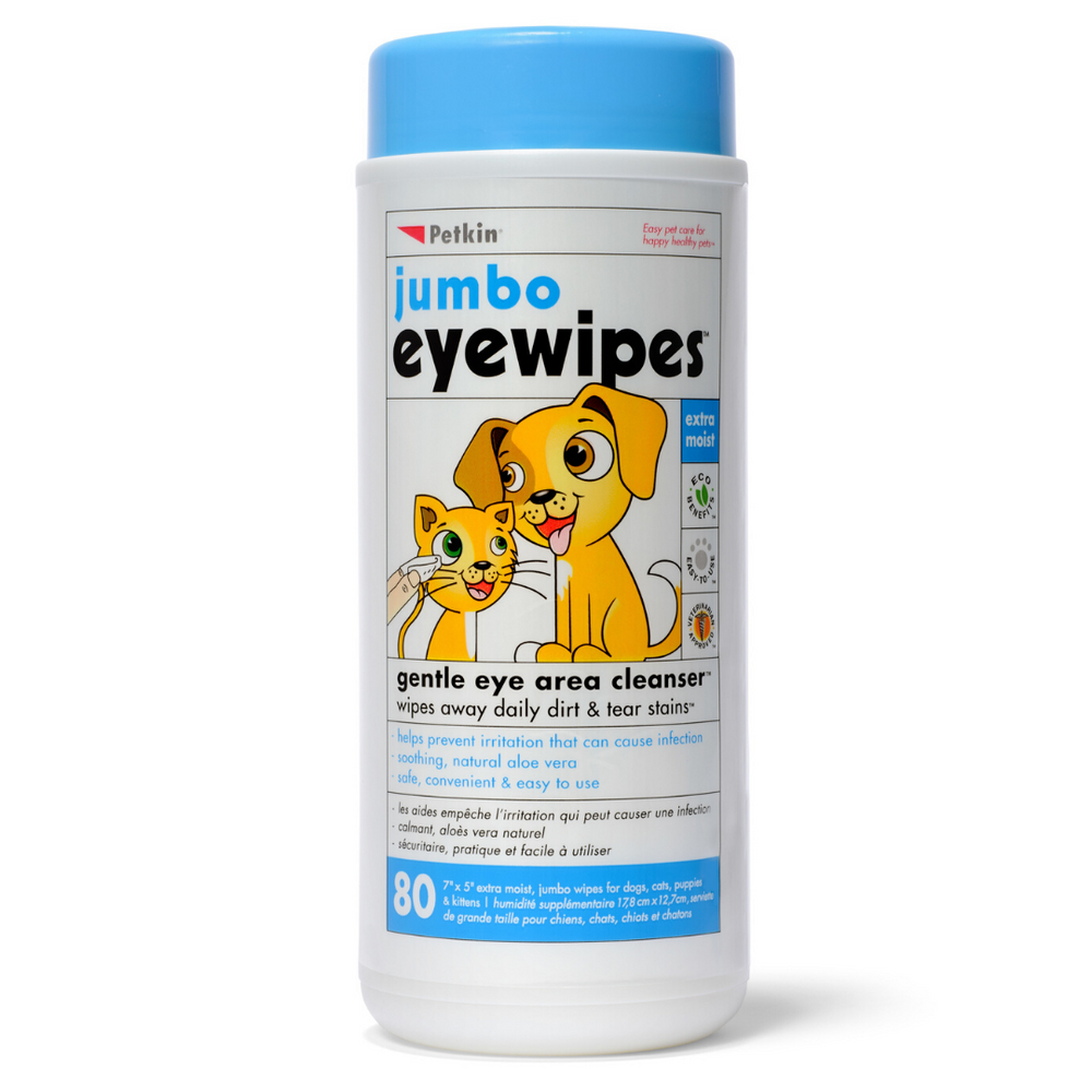 Petkin Jumbo Eyewipes 80 Wipes