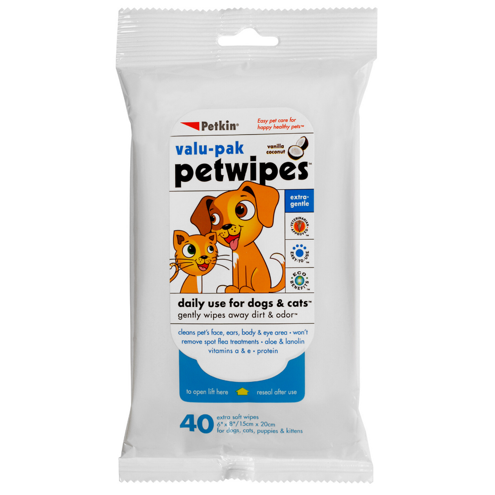 Petkin Petwipes Value-Pack 40 Wipes