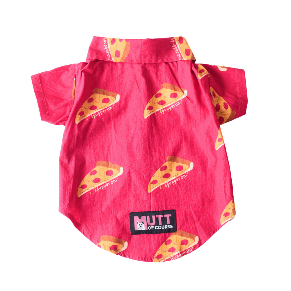 Mutt Of Course Dog Clothes - Pupperoni Pizza Shirt