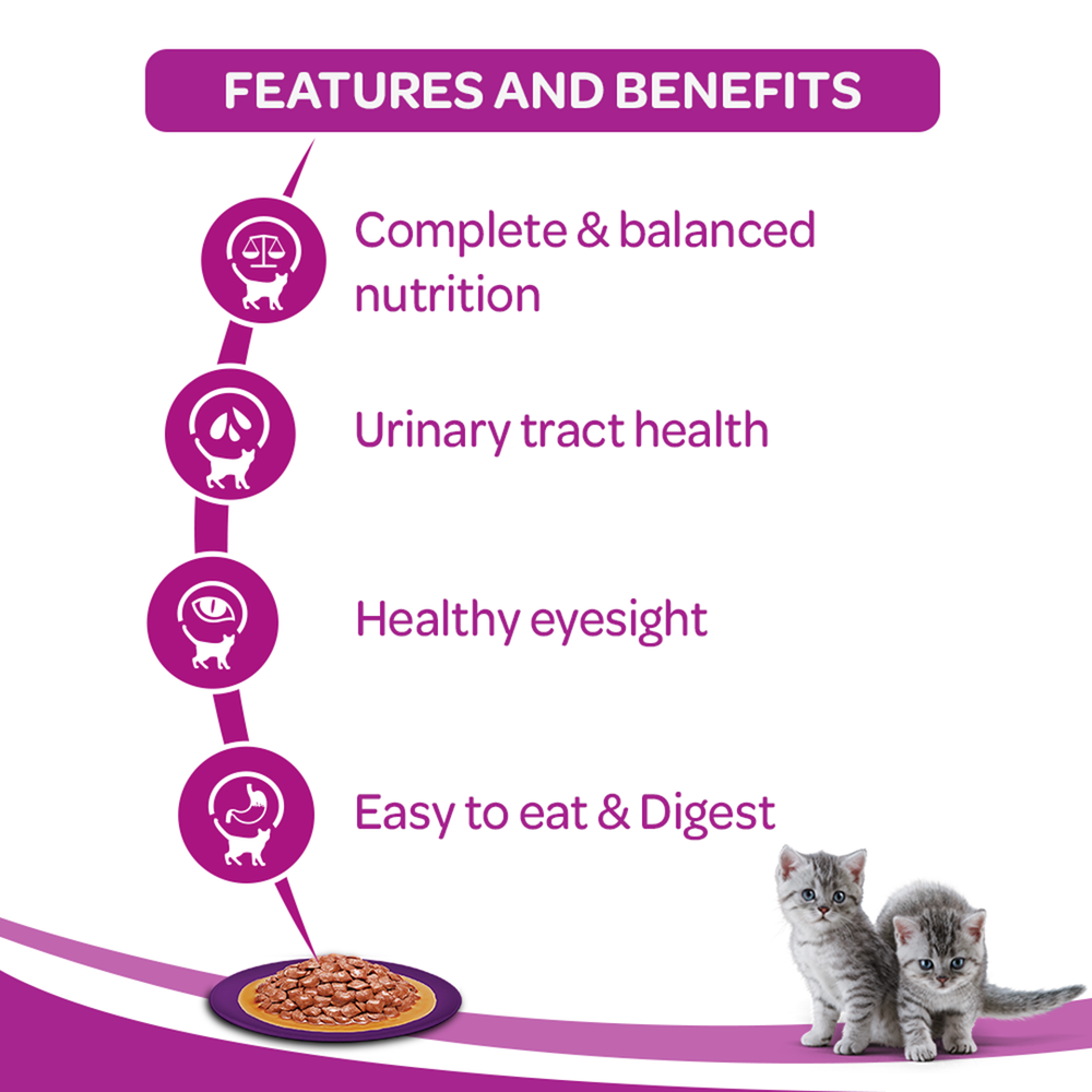 Whiskas Wet Kitten Food - Chicken - (85g x 12pouches)